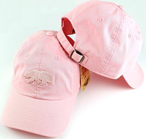 (Cali Bear American Needle Tonal Ballpark Slouch Cotton Twill Adjustable Hat (Club Pink))