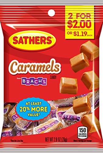 Sathers Candy, Caramel, 2.8 Ounce (Pack of ()