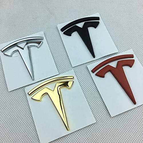 Appiu Car Modification Stickers Metallkarosserie Paste Logo Aufkleber Models hinteren Kotfl/ügel Standard Kennzeichnung dekorative Aufkleber Color : Black