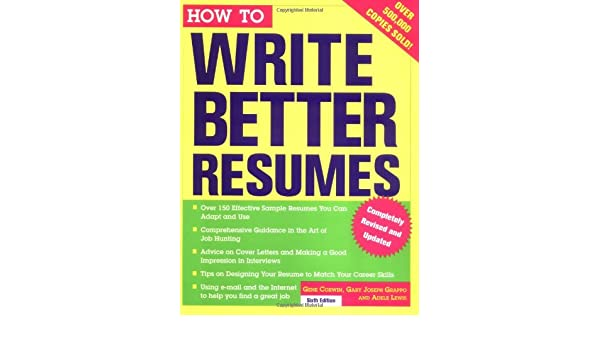 write a better resumes