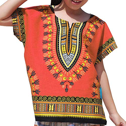 WOCACHI Toddler Baby Girls Clothes, Boy Girl Kids Baby Unisex Bright African Colour Child Dashiki T Shirt Tee Tops 2pcs 3pcs Footies Outfit Onesies 0-24 Months 2-8 Years Playsuits Tutu Princess ()
