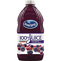 Ocean Spray 100% Juice Cranberry Concord Grape, 60 Ounce Bottles (Pack of 8)