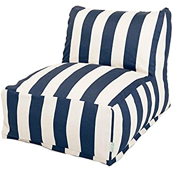 Amazon Com Majestic Home Goods Navy Blue Solid Bean Bag