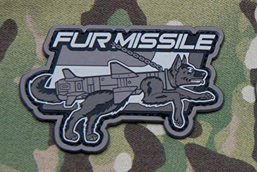 Fur Shepherd - Mil-Spec Monkey Fur Missile PVC Morale Patch (Urban/SWAT)