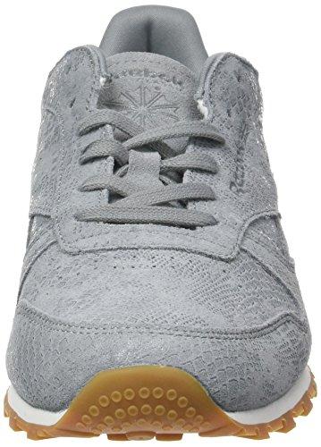 Running Lthr Gris gum Reebok Femme Exotics Cl Grey chalk flint De Clean Chaussures 8Sw4nqY5R4
