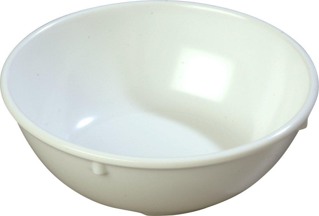 Carlisle 4352102 Dallas Ware Melamine Nappie Bowl, 14oz Capacity, 5.45'' Diameter x 1-15/16'' Height x 1-15/16'' Depth, White (Case of 48)