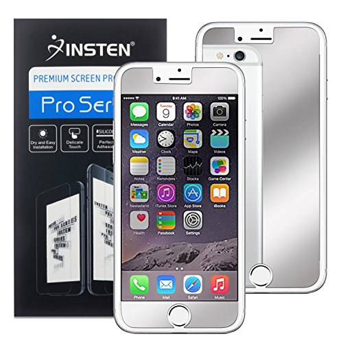 Protector, Insten Premium Mirror Anti-Scratch LCD Screen Protector Bubble Free HD Film No Rainbow Effect Shield Guard For Apple iPhone 8 / 7 (4.7