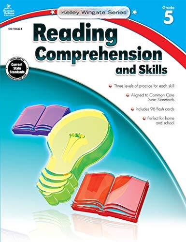Carson-Dellosa Kelley Wingate Series Reading Comprehension and Skills Book - Common Core Edition, Grade 5, Ages 10 - 11