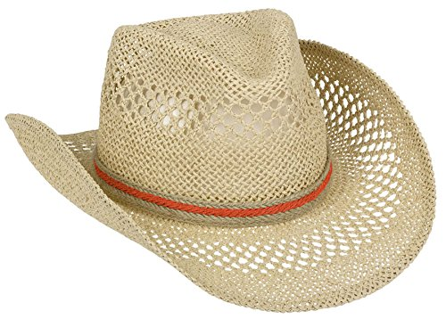 Natural Cowboy Hat with Hemp Hatband Hawaiian Summer Luau...