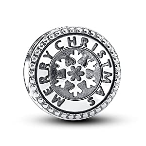 Glamulet Jewelry - Crystal Christmas Snowflake Charm -- 925 Sterling Silver