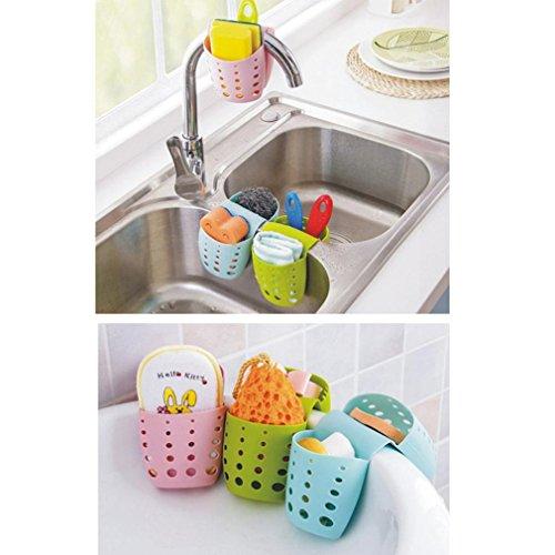 YJYDADA New Sponge Holder Sink Caddy Soap Holder For Kitchen