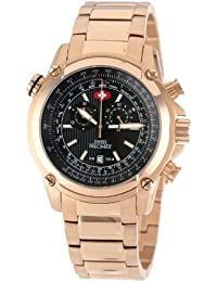 Men's SP13079 Squadron Pro Black Dial with Rose-Gold Stainless-Steel Band Watch