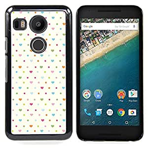 """For LG GOOGLE NEXUS 5X H790 Case , Del corazón del lunar blanco Baby Blue Clean"""" - Diseño Patrón Teléfono Caso Cubierta Case Bumper Duro Protección Case Cover Funda"""