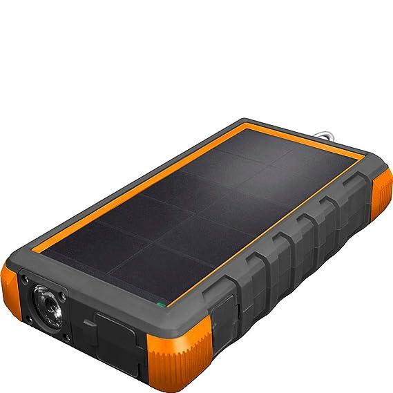 Amazon.com: Cargador solar de 24000 mAh con linterna LED ...