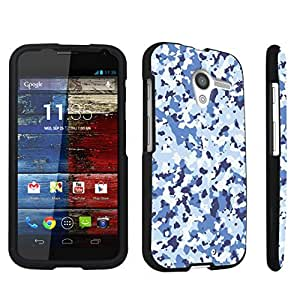 DuroCase ? Motorola Moto X 2013 First Generation Hard Case Black - (Camouflage Blue)