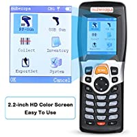 Nuberopa Wireless Barcode Scanner Portable Terminal Inventory Data Collector Device Bar Code Reader PDA with TFT Color LCD Screen