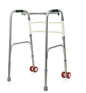 grhl Ancianos Walker Andador plegable acero inoxidable ...