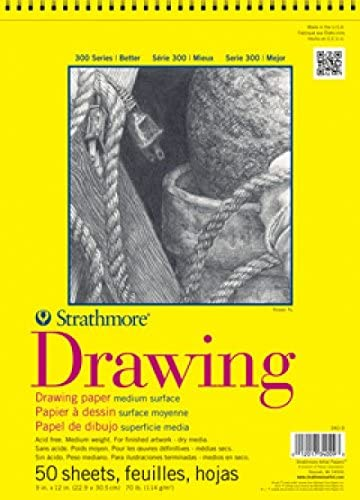 11 x 14 Inches Strathmore 300 Series Drawing Pad 50 Sheets 70 lb