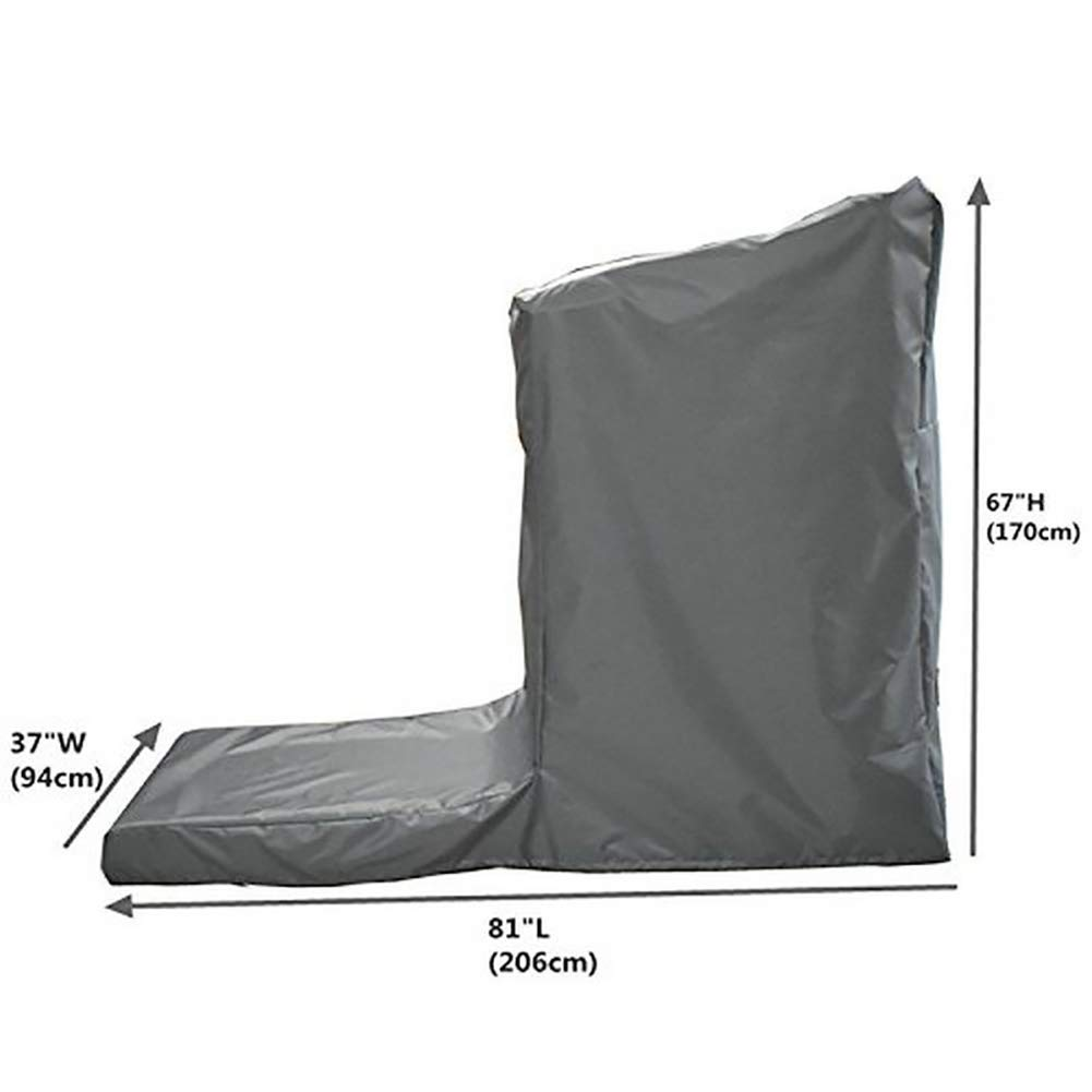 Protective Exercise Treadmills Cover, Weather Resistant Running Machine Cover, Heavy Duty Cardio Traning Fitness Equipment Cover for Indoor and Outdoor Using (L: 81'' Long x 37'' Wide x 67'' High) by Hersent (Image #2)
