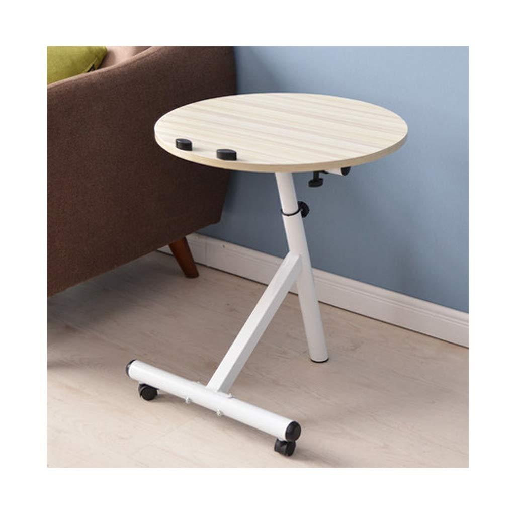 Beige RFJJAL Wheeled Detachable Coffee Table, Simple Round Living Room Bedroom Sofa Table Small Coffee Table Small Table (color   Black)