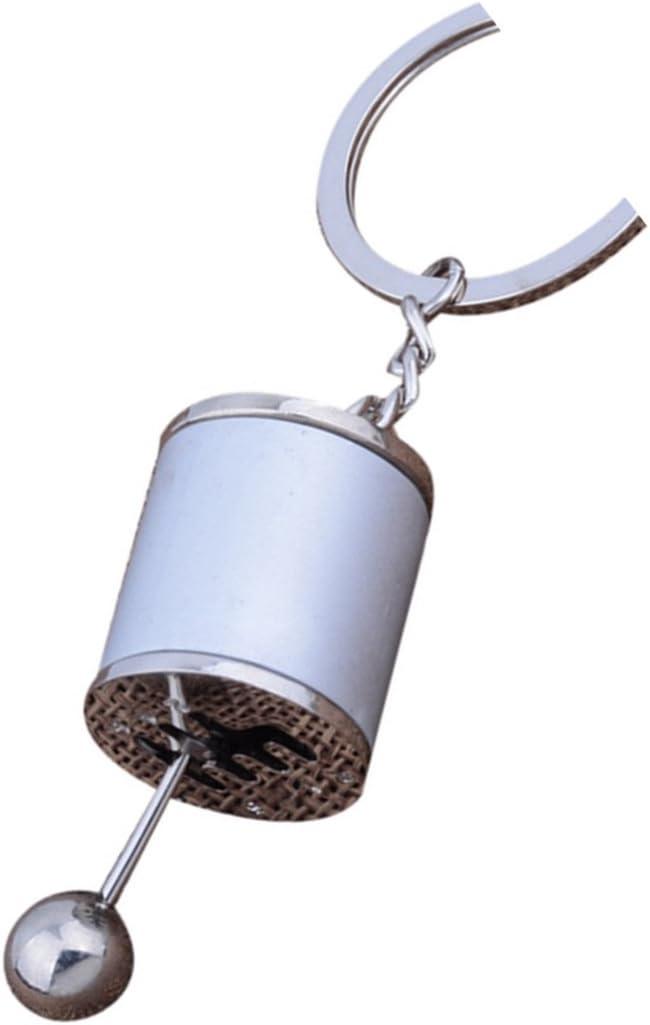 Cooki Creative AUTO parte modelo Gear Knob Gear Shift palanca palanca de cambios de seis llavero llavero cadena de metal clave Anillo Llaveros Llavero Regalo: Amazon.es: Oficina y papelería