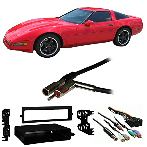 (Fits Chevy Corvette 1990-1996 Single/Double DIN Harness Radio Install Dash Kit)