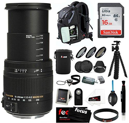 Sigma 18-250mm f/3.5-6.3 DC OS HSM Macro Lens for Nikon w...