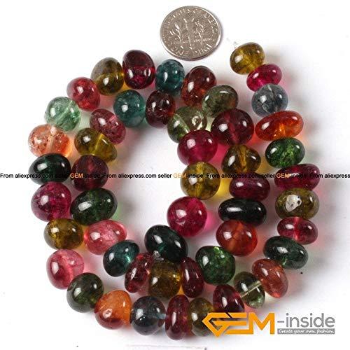 Calvas 8x12mm Freeform Potato Beads Natural Stone Beads: Fluorite Opalite Indian Agat Labradorite Tiger Eye Strand 15