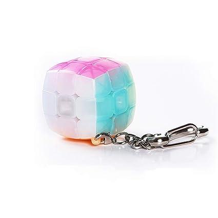 HZZ 3x3 Mini Jelly Cube Llavero Smooth Cube Colgante NiñOs ...