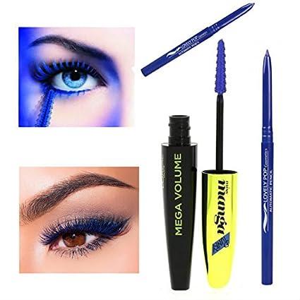 defaee9fe63 Kit L'Oréal Paris Mega Volume Miss Manga Punky Mascara Bleu Indigo + 1  Crayon