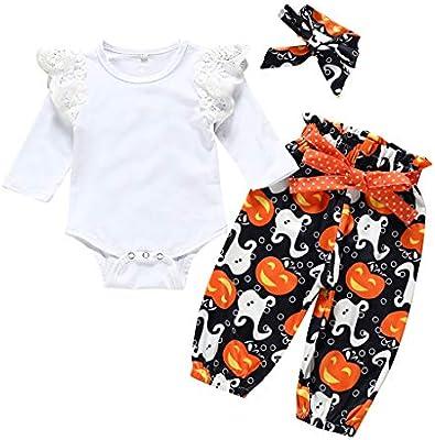 0-24Months Newborn Baby Boy Girl Romper Pants Bodysuit Shorts Outfit Set Clothes