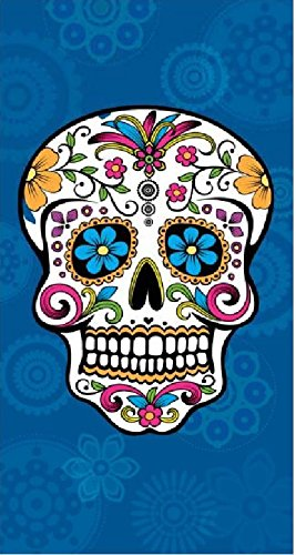 The Best Fashion House Toalla de playa diseño calavera mexicana 100% algodon (3 colores