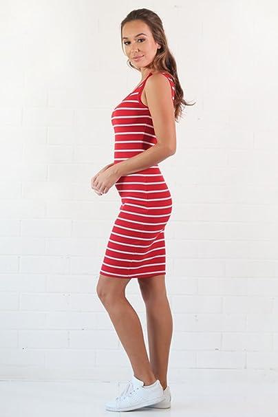 KINDOYO Mujeres Verano Ropa de Lactancia Vestidos Madres Maternidad Embarazadas Prenatales y Postnatales Cuello Redondo Raya Sin Mangas Casual Vestido ...