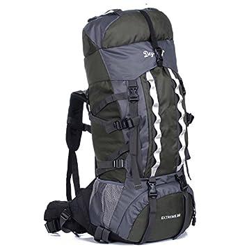 Gelory Mochila de Senderismo Montaña 80L Mochila del Viaje Marcha Deporte Casual Escalada Camping Trekking Multi-función (Army green): Amazon.es: Deportes y ...