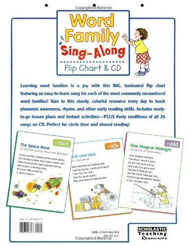 amazon com word family sing along flip chart cd 25 fun songs set