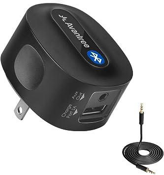 Avantree Roxa Plus Libre DE Carga Adaptador aptX Baja LATENCIA Receptor Bluetooth para el Equipo de Música, Altavoces, PC, Teléfono, TV etc.: Amazon.es: Electrónica