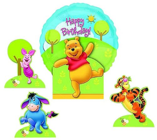 Amscan Pooh Happy Birthday Balloon Centerpiece (Winnie Centerpiece The Pooh)