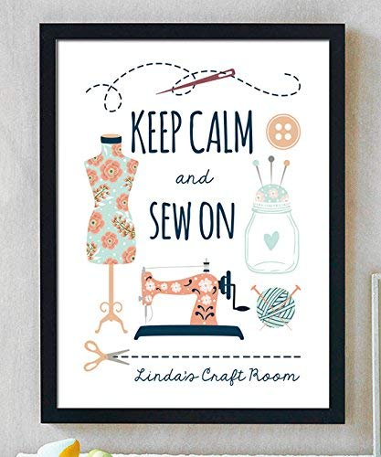 Personalized Sewing Print | Craft Room Decor | Sewing Gift | Sewing Room Decor | Sewing Decoration | Mothers Day Gift | Knitting Gift | Quilting Gift | Personalized Gift for Grandmother from Canary Road
