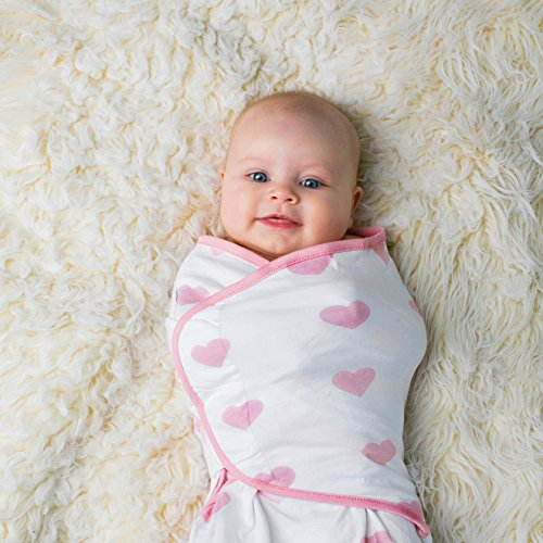 Baby Swaddle Blanket Wrap Set 3 Pack Pink Peony Pink