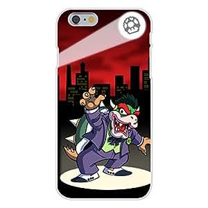 Apple iPhone 6 Custom Case White Plastic Snap On - Clown Criminal Villain Video Game & Bat Super Hero Parody