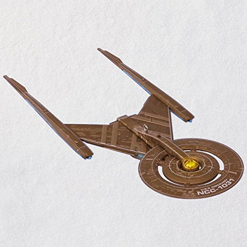 Hallmark Keepsake Christmas Ornament 2018 Year Dated, Star Trek: Discovery U.S.S. Discovery With Light -