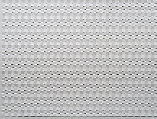 RETRO ART Paintable White Mosaic Backsplash Panels Kitchen Bathroom Shower Interior Wall Paneling, Residential, Commercial, 18'' x 24'', 3 Sq Ft