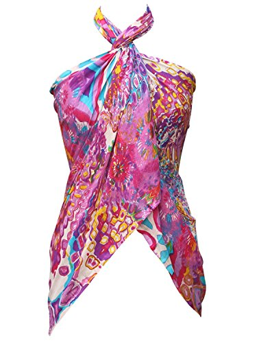 SouvNear Printed Wrap Scarf Stole - Floral Fashion Scarves for Women Girls Teens - Forever Summer Scarfs