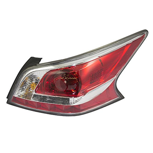 Passengers Taillight Tail Lamp Lens with Grey Edge Trim Standard Type Replacement for Nissan 26550-9HM0A AutoAndArt
