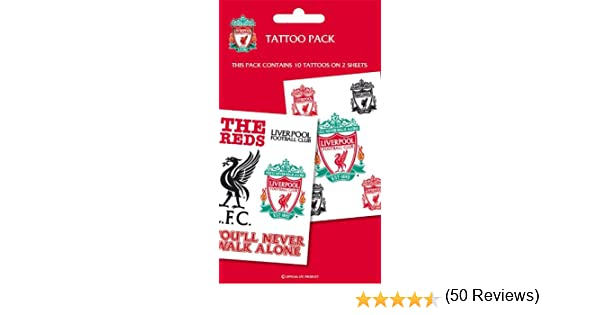 Liverpool Fc Tattoo Pack Temporary Tattoos Amazon Canada