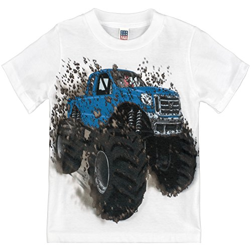 Shirts That Go Little Boys' Big Blue Monster Truck T-Shirt 6 White (Best Monster Truck Venues)