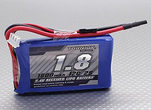 Turnigy 1800mAh 2S 12C Lipo Receiver (Lipo Receiver Battery)