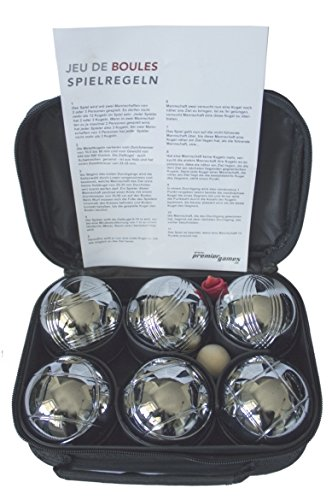 '1 Iergames Petanque Bowl, Set of 6 Leisure Zip Case Premiergames