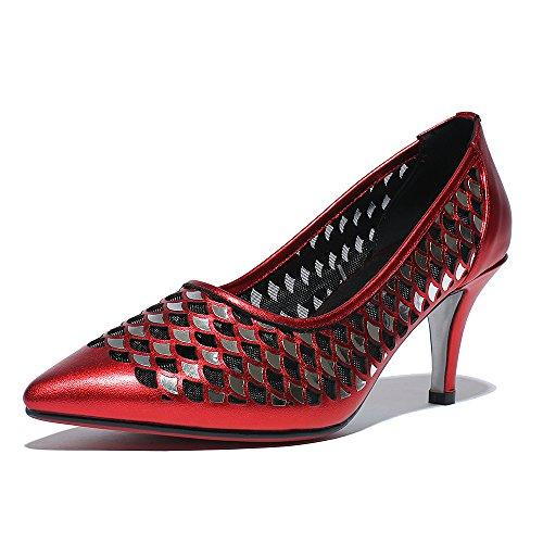 Chaussure De Pompe À Talons Hauts En Mesh Minivog Rouge