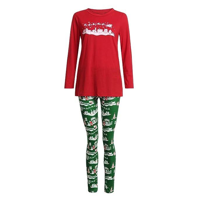 Malloom Pijamas Dos Piezas Familiares de Navidad, Conjuntos Navideños de Algodón para Mujeres Hombres Niño Bebé, Ropa para Dormir Otoño Invierno Sudadera ...